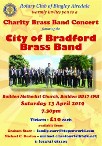 CITY OF BRADFORD BRASS BAND POSTER ROTARY 2019